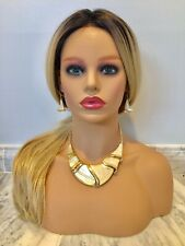 Women's Fashion Gold Statement Large Necklace Set