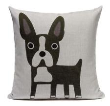 Boston Terrier B3 Cushion Pillow Cover Cartoon Pet French Bulldog Handmade Case