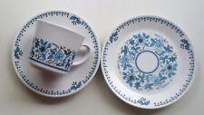 Vintage Noritake Japan Progression China Cup, Saucer & Plate Trio *Blue Moon