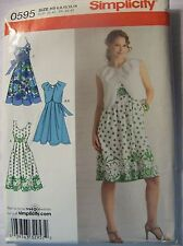 Simplicity Sewing Pattern 0595 Womens Clothing Size 6-14 Summer Dresses