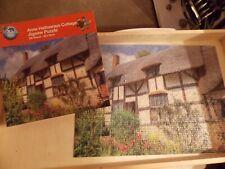 500 piece jigsaw. Ann Hathaways cottage. 48cmx35cm. Used & complete