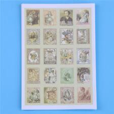 80 Pegatinas de Alicia en el País De Las Maravillas/tarjeta de decisiones Sellos Vintage Scrapbook * vendedor del Reino Unido *