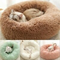 Pet Dog Cat Calming Bed Round Nest Warm Soft Plush Sleeping Bag Comfy Fluffy SM