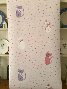 Laura Ashley Kittens Pink Wallpaper (Same Batch) * FREE DELIVERY *