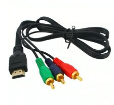 HDMI Male to 3 RCA AV Cable Cord Adapter Converter Video Audio DVD US 1080P