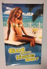 Corona Beer Poster Girl Sitting At Pool Side