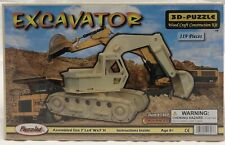 Puzzled Excavator Wood 3D Puzzle Wood Craft Construction Kit
