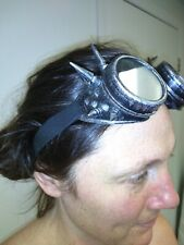 SteamPunk/Burning man Spiked Fashion Goggles