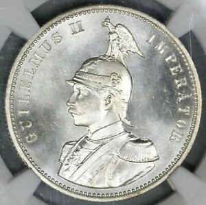 1890 NGC MS 66 German East Africa Rupie Mint State Silver Coin (19061801D)