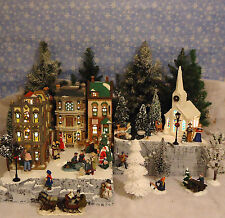 Christmas C Snow Village Display Platform Base Dept 56 Lemax St. Nicholas Square