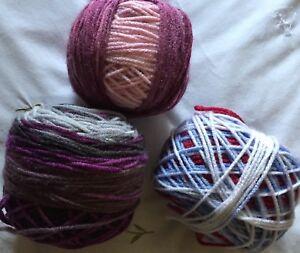 Multicoloured DK Wool - Weighing 262g in total - New