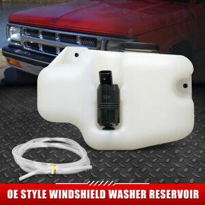 FOR 88-93 CHEVY S10 GMC S15 WINDSHIELD WASHER FLUID RESERVOIR TANK W/ CAP+PUMP