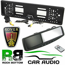 "ROVER 4.3"" Rear View Reversing Mirror Monitor & Car Number Plate Camera Kit"