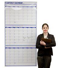 "Quarterly Wall Calendar - Wall Planning Project Calendar – Dry Erase 36""x72"""