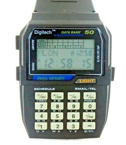 New 50 Memory Data Bank Email Calculator World Time Currency Convert Wrist Watch