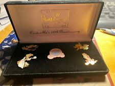 Disney Cinderella (5) Piece Pin Set 50th Anniversary in Velvet Box
