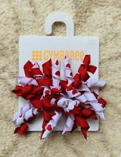 Gymboree Hair Clips x 2 - Red And White With Love Hearts - New With Tag