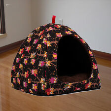 Pet Bed Dog Cat House Kennel Owl Puppy Cushion Nest Basket Pad Mat tent Igloo