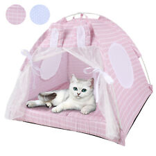New listing Dog Cat Nest Bed Tent Crate House Puppy Cushion Fluffy Portable Canvas Pet Tent