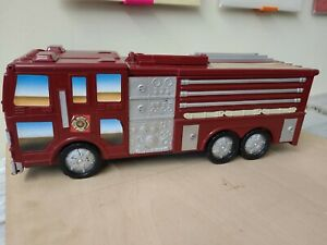 Micro Machines Motor Max Fold Out PlaySet Fire Engine Retro