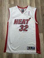 Auth Vintage Shaquille O'Neal Miami Heat #32 NBA Reebok Jersey White Men Sz M
