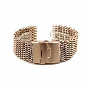 18-24mm Stainless Steel Milanese Watch Strap Band Shark Mesh Bracelet Wristband
