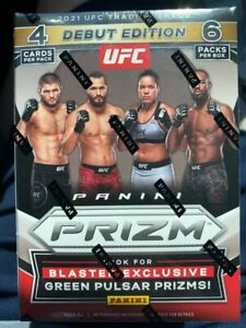 🔥 2021 Panini Prizm UFC Blaster Box Trading Cards New Factory Sealed DEBUT 🔥