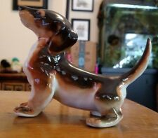 "Lomonosov Porcelain Dachshund Excellent condition LFZ USSR 6"" Long by 4.5"" tall"