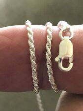 """8""""-18"""" 035 Rope 1.6mm $9.49~$13.99 Sterling Silver .925 Italy Anklet/Necklace"""