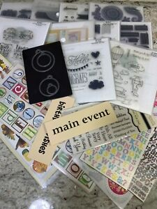 Stamps - Close to My Heart + mixed scrapbooking items - New and used - Box 2