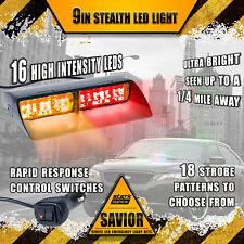 16 LED Emergency Dash Car Vehicle Windshield Warning Flash Strobe Red / Amber A