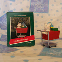 Hallmark Keepsake Ornament Hoppy Holidays Bunny in shopping cart 1989