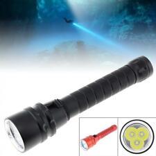 LED Diver Diving Flashlight Underwater Scuba Torch Light Lamp Waterproof Outdoor