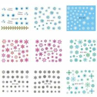 Christmas Snowflakes Nail Art Stickers Decals Santa Matte Snowflakes Candy