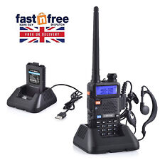 Police Handheld Radio Scanner 2 Way Digital Transceiver HAM VHF UHF Fire Antenna