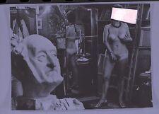 photo négatif. vintage. le modèle du peintre  .nu .tableaux.atelier du peintre