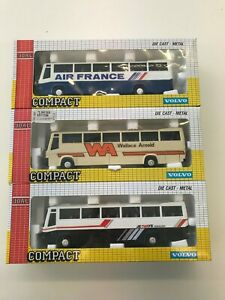 Joal 1/50 Scale Model Volvo Coaches - Wallace Arnold - Air France - Jetways