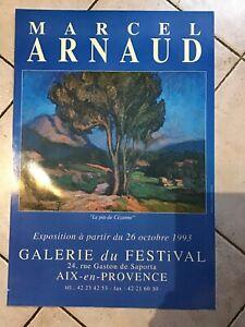 Affiche Galerie Du Festival Aix En Provence Artiste Peintre  Marcel Arnaud  1993