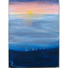 """"""" la par the Hills """" Susan Soffer Cohn Peinture acrylique sur toile 61cmx45.7cm"""