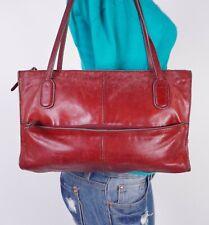HOBO THE ORIGINAL Medium Red  Leather Shoulder Hobo Tote Satchel Purse Bag