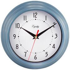 """25014 Equity by La Crosse 8"""" Slate Blue Analog Wall Clock"""