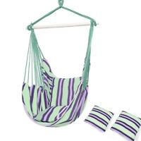 Hammock Swing Chair Hanging Rope Chair Portable Porch Seat for Indoor Outdoor