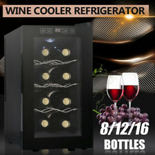 8 Bottle Wine Cooler Refrigerator Thermostat Cabinet Air-tight Seal Temp Control