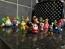 SUPER MARIO BROS AND FRIENDS TOY FIGURE/CAKE SET 18 PCS NEW UK SELLER