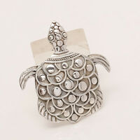 925 Sterling Silver Tortoise Good Luck Jewelry Handmade Pendant Free Shipping