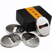 4x Steel Door Strikers Lock Buckle Cap Protective Cover For Mazda 2 / 6 / 3 / 5