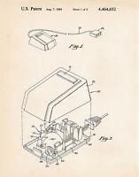 1984 Computer Mouse Programmer Wall Art Geek Gift Poster Print Patent Jobs Apple