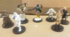 7 Star Wars Minatures Wizards of the coast WIZKIDS BOBA Fett Stormtrooper Rebel