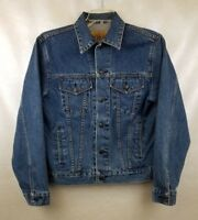 Gap Blue Jeans Mens Trucker Jacket Blue Denim Medium Wash Buttons Pockets Size S