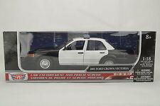 """1:18 Motor Max - 2001 FORD CROWN VICTORIA """"LAPD Police Car"""" CLEAN VER. -RAR- OVP"""